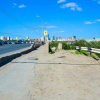 Мост в городе Новосибирске, дорога на правый берег :: Света Кондрашова