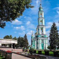Вечный огонь и Спасо-Преображенский собор Тамбова. :: Александр Селезнев