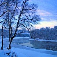 Зимний вечер над Десной :: Дубовцев Евгений