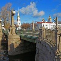 Вид с моста на Никольский морской собор в Питере :: Наталья