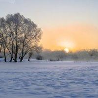 Солнце над снежными берегами Десны :: Дубовцев Евгений