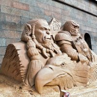 Петропавловская крепость. Песочные скульптуры. :: Виктор Елисеев