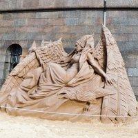 Выставка песчаных скульптур в Петропавловской крепости С- Петербурга :: Виктор Елисеев
