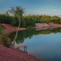 Вечер на Голубом озере :: Анатолий