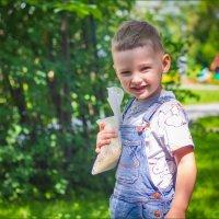 Мальчик идущий кормить голубей :: Олег Карташов