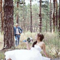 Свадебная фотосессия в лесу :: марина алексеева