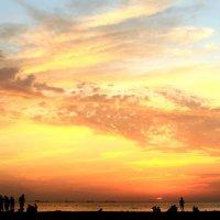 Закат над Таганрогским заливом :: Михаил Аленин