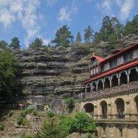 """в чешской Швейцарии,замок """"Соколиное гнездо"""" :: Елена"""