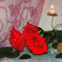 Розы и свечи :: Павлова Татьяна Павлова