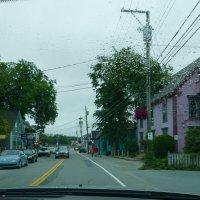 Дождь, одна из улиц г.Люненбурга (Новая Шотландия, Канада) :: Юрий Поляков
