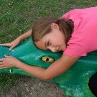 Лиза на крокодиле :: Даша Полевая