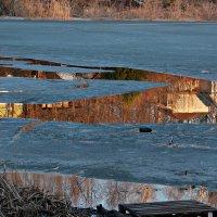 Закатное отражение в осколках ледяного зеркала :: Olenka
