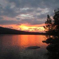 Закат над озером :: Александра Добрынина
