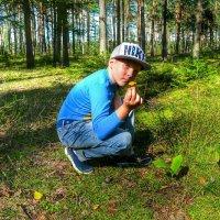 Внук в походе за грибами :: Милешкин Владимир Алексеевич