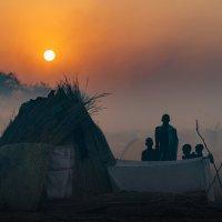 Вечерний этюд в племени Нуэр :: Андрей Артамонов (artamonoff2009)