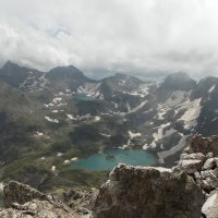 Вид на Имеретинские озера с пика Ставрополь. :: Иркиза Снежная