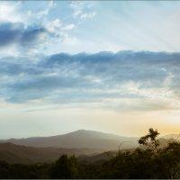 Закат в Кахетии. Panoramic version :: алексей афанасьев