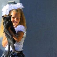 Говорят не повезет, если черный кот дорогу перейдет.... :: Валентина ツ ღ✿ღ