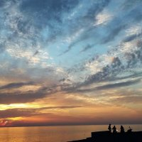 Чёрное  море  моё...Закат на море  в  районе г.Адлер  январь 2016 г :: АЛЕКС