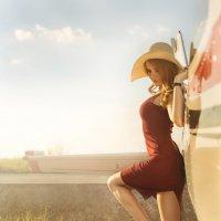 Небо, самолет, девушка :: Павел Шрайбикус