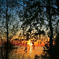 Закат над озером в Сибири :: Милешкин Владимир Алексеевич