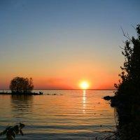 Закат над озером (2) :: Милешкин Владимир Алексеевич
