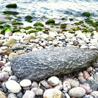 Странный камень. Наверное метеорит. Точно метеорит, выброшен волной на берег Балтйского моря. :: Сергей Крошин