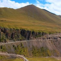 """Самый опасный участок дороги в Джилы-су к Эльбрусу (""""Карниз"""") и самый красивый... :: Vladimir 070549"""