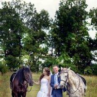 Дмитрий и Валентина, ми-ми с лошадками :: Денис Соболев