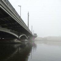 Благовещенский мост и Нева в тумане. :: Владимир Гилясев