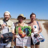 Встреча на Арабатской стрелке с австралийскими путешественниками Таней и Алексом... :: Алекс Аро Аро