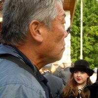 старый мужчина, молодая девушка :: Ольга Заметалова