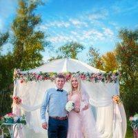 Свадебная открыточка (Невеста с папой) :: Ольга Егорова