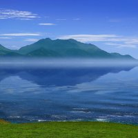 "Новая Зеландия. Кайкора. Туман над заливом. Из серии ""Зазеркалье"" :: Андрей Левин"