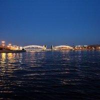Мост Петра Великого. Белые ночи :: Наталья