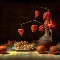 Оранжевый натюрморт :: Ольга Дядченко