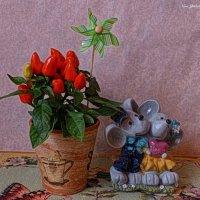 Перчик и мыши :: Nina Yudicheva