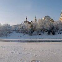 Торжок. Панорама борисоглебского монастыря. Зима :: Александр Горбунов