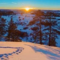 Зима. Заход солнца :: Анатолий Иргл