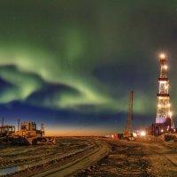 На буровой ночь :: Николай Андреев