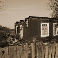 Тот самый сгоревший дом прабабушки.... :: ирина