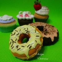 пончики из полимерной deco глины :: Екатерина