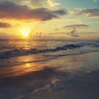 Закат.Атлантический океан.Доминикана. :: Татьяна Калинкина