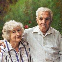 Портрет пожилой пары (Фотокартина) :: Анна Долгая