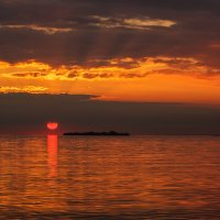 закат на Финском заливе :: Владимир Колесников