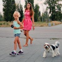 Девчонка и собачонка :: Анатолий
