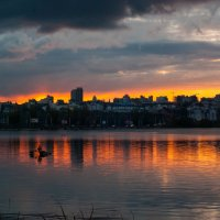 осенний закат в Воронеже :: Коля Нефедов