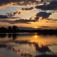закат на реке Сож :: Владимир Зырянов