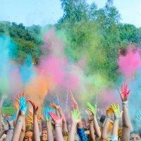 Виктория Печенкина - Цветной крик Фестиваль Холи в Ставроле :: Фотоконкурс Epson