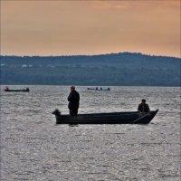 рыбаки, Плещеево озеро :: Дмитрий Анцыферов